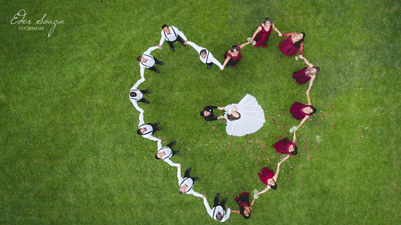 Foto de drone casamento